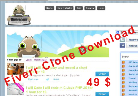 fiverr clone script